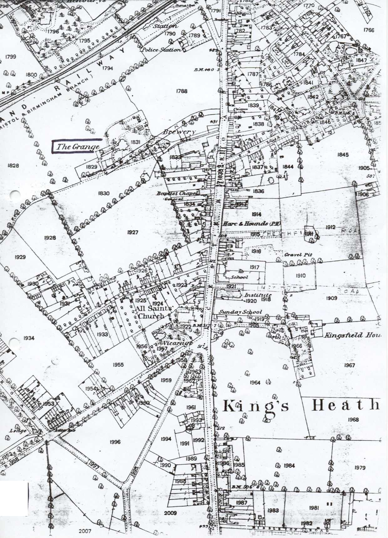 King's Heath map of 1887