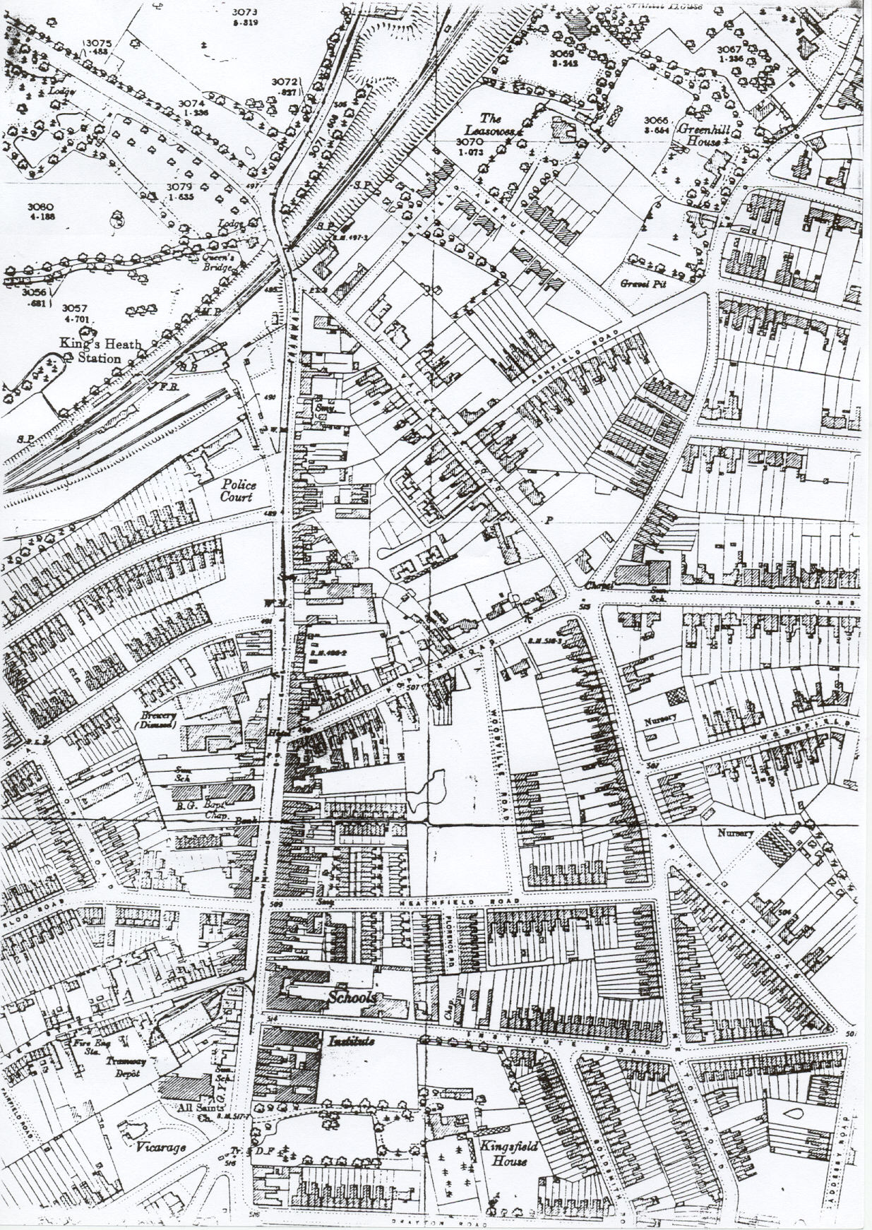 King's Heath map of 1904