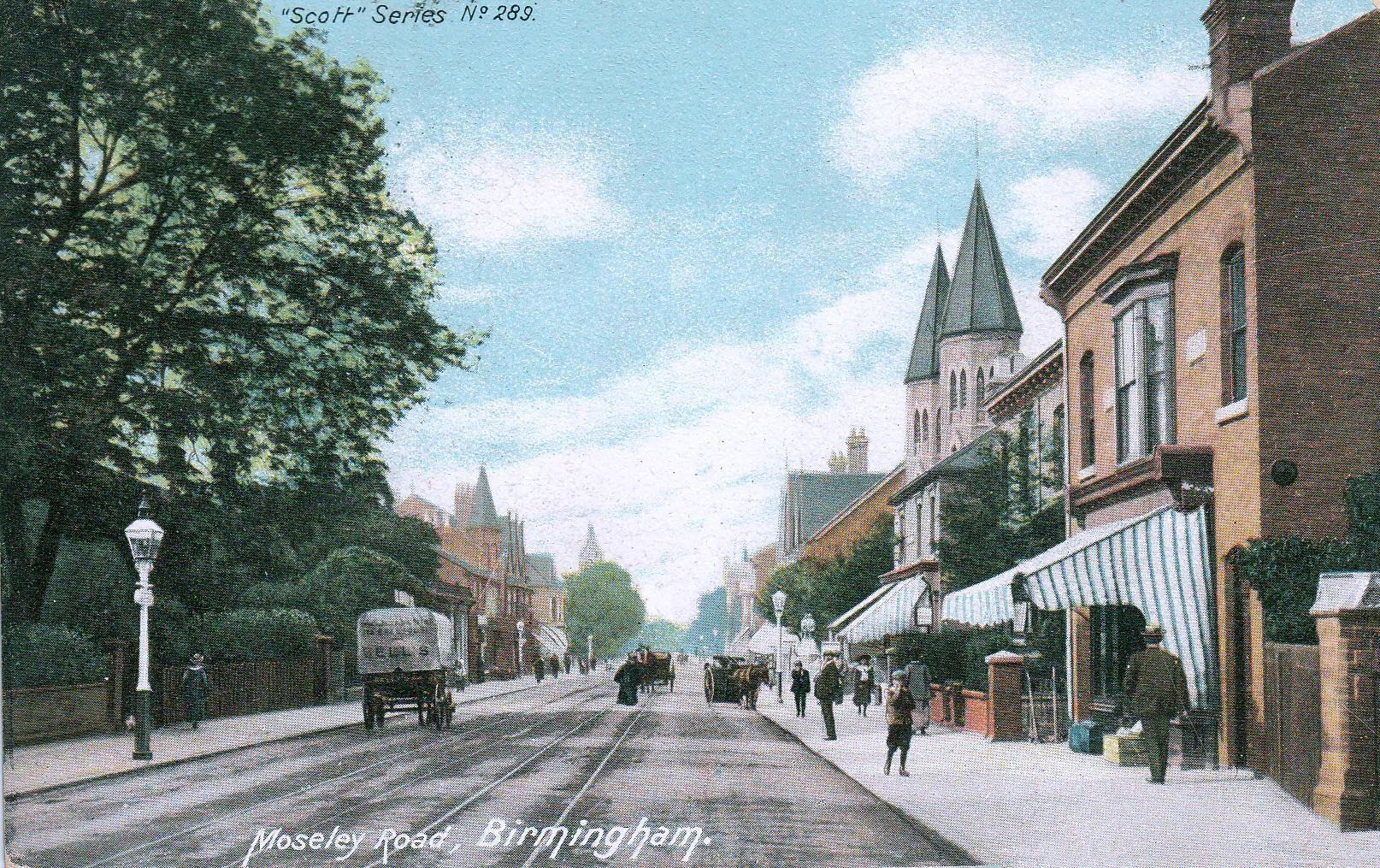Moseley Road in colour